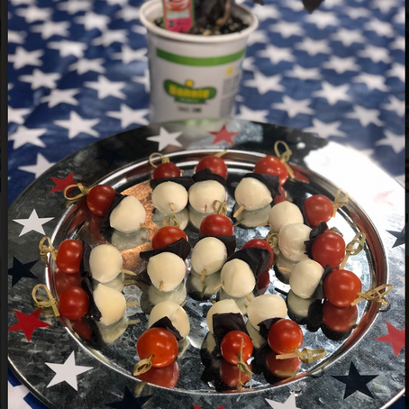 Red, White, and Blue Caprese Bites
