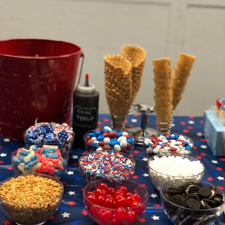Red, White, and Blue Ice Cream Bar