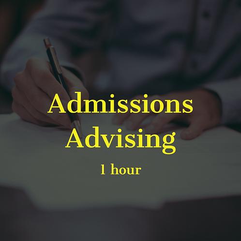 Strategic Admissions Advising - 1 hour
