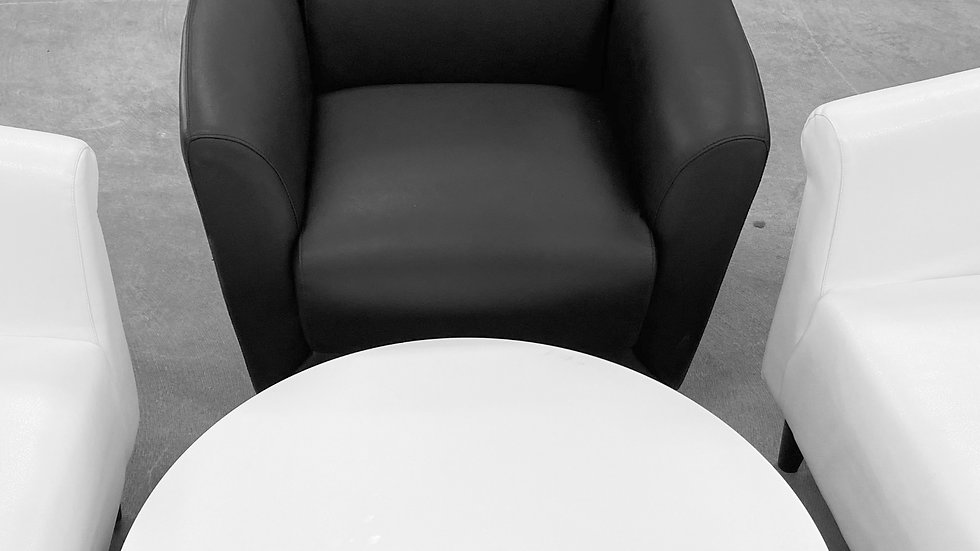 Black Leather - Contemporary Style - Guest Chair