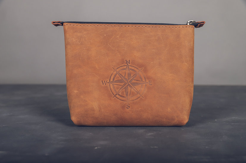 Women Leather Cosmetic Bag