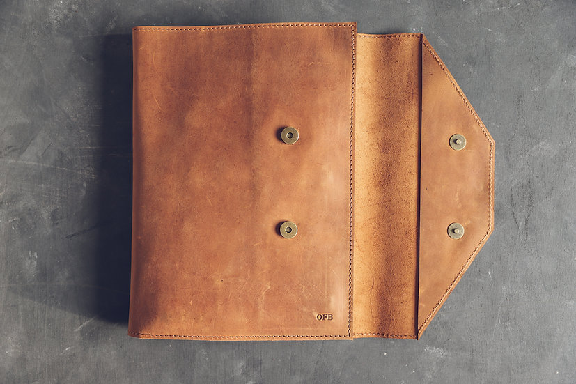 Leather Organizer MacBook Pro / Leather Laptop Case