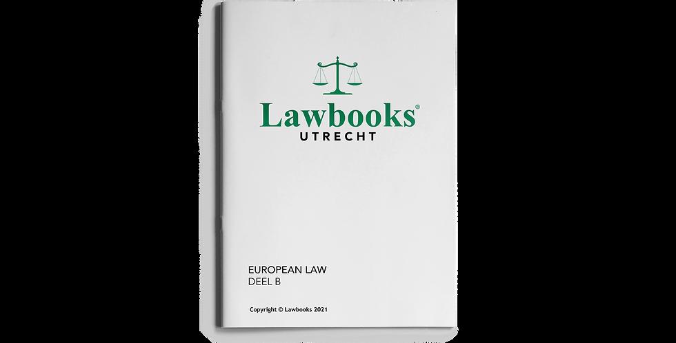 European Law DEEL B