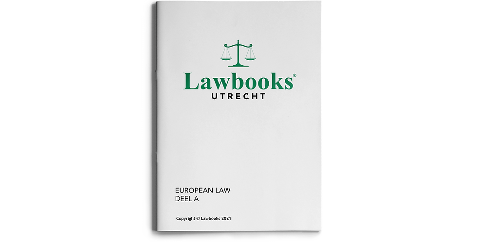 European Law DEEL A