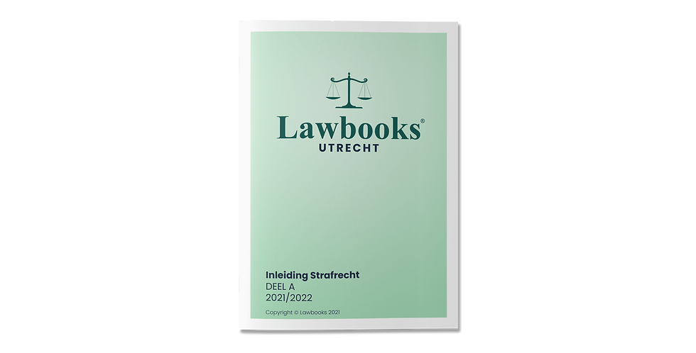 Inleiding Strafrecht DEEL A