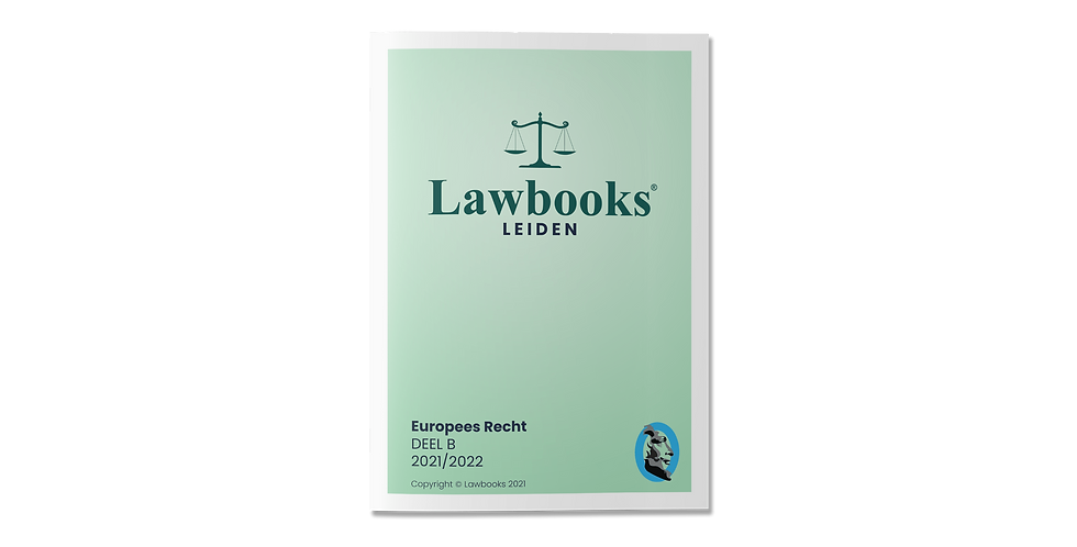 Europees Recht DEEL B