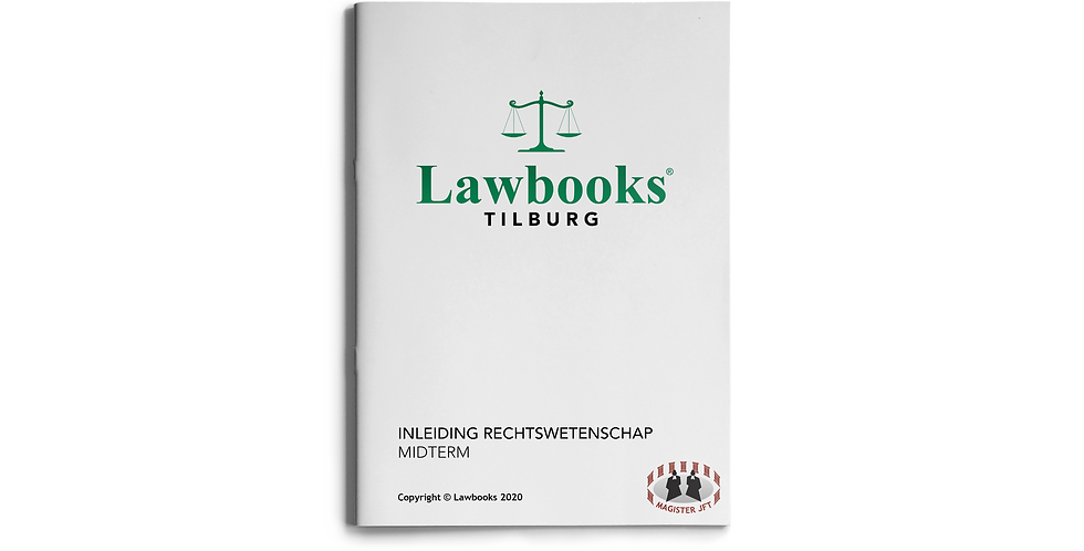 Inleiding Rechtswetenschap MIDTERM