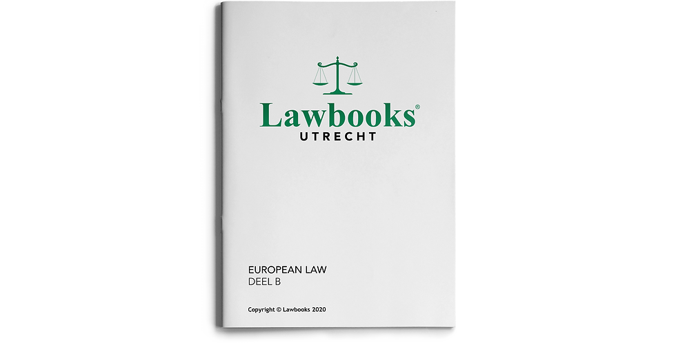 European Law DEEL B