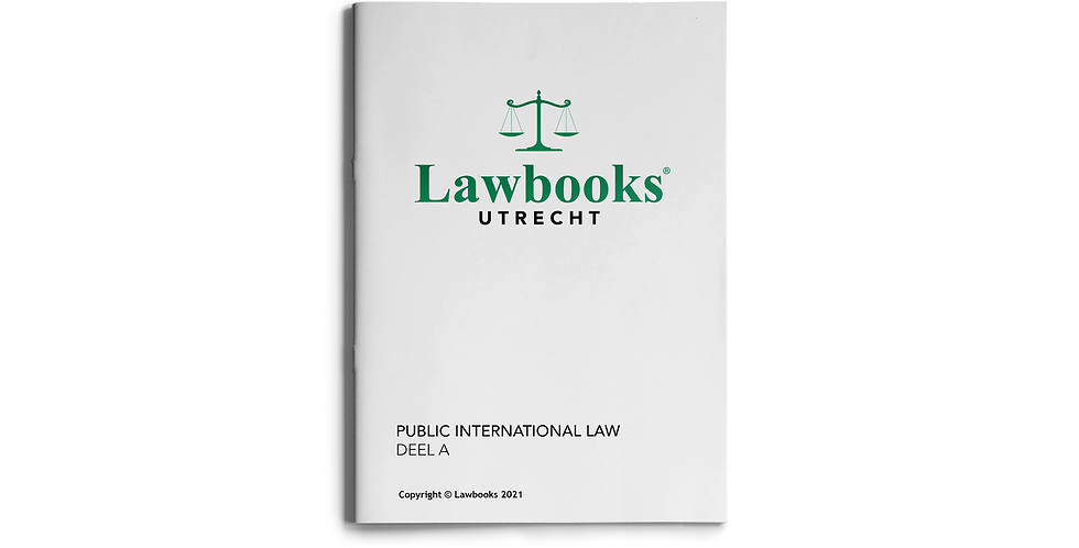 Public International Law DEEL A