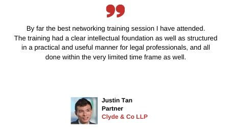 Testimonial from Justin Tan of Clyde & Co
