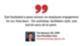 Testimonial_Tim Howard of Commissioning Agents International