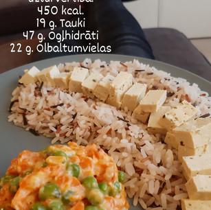 Burkānu - zirnīšu sautējums ar rīsiem