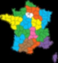 Carte diocèses france