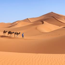 Désert sur marocain