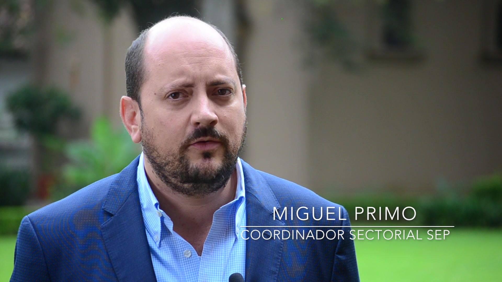 Miguel Primo Coordinador de Sectorial de Vinculación y Proyectos Estratégicos de la SEP