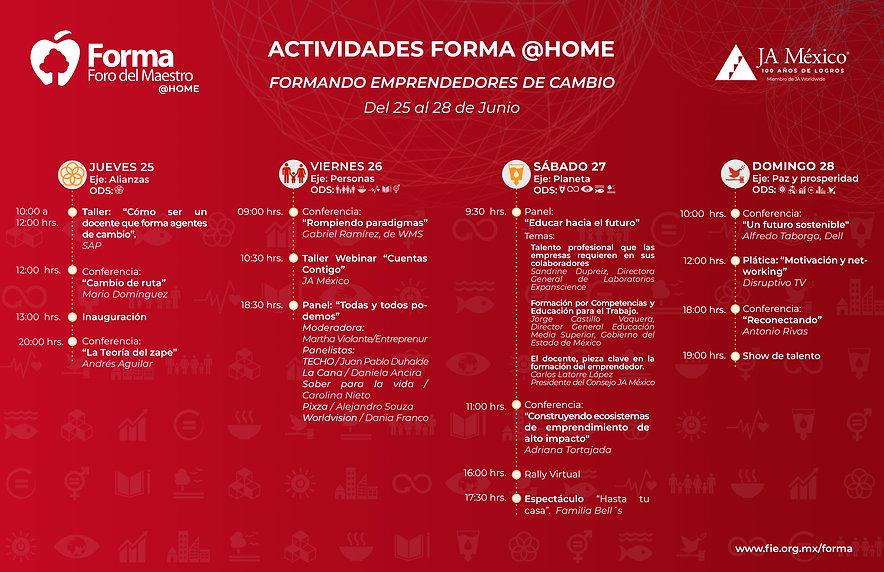 Programa de Actividades FORMA Home 2020-