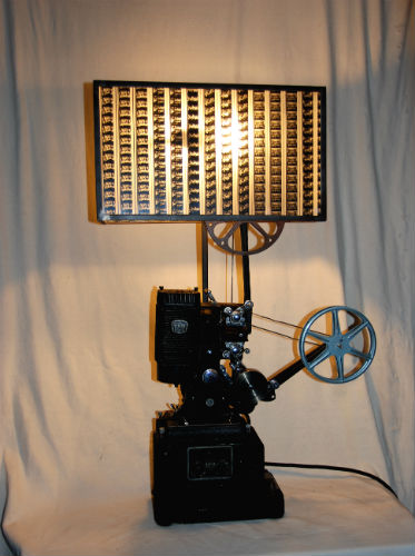Projector Lamp with Custom Shade