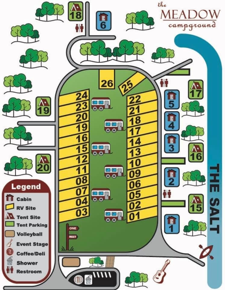 The Meadow Campground Map