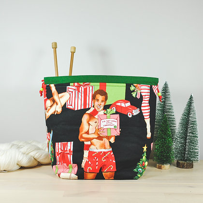 Christmas Hunks Knitting Bag