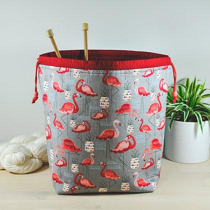 Red Flamingo Knitting Bag