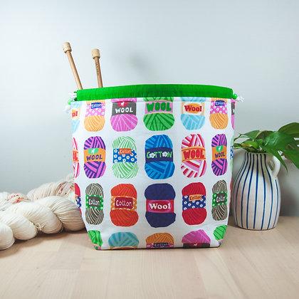 Wool Balls Knitting Bag