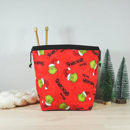Christmas Grinch Knitting Bag