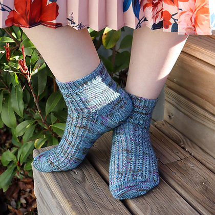 Lavender Malt Sock Pattern