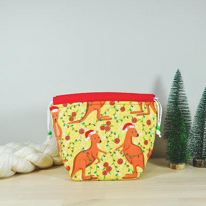 Christmas Roo's Knitting Bag