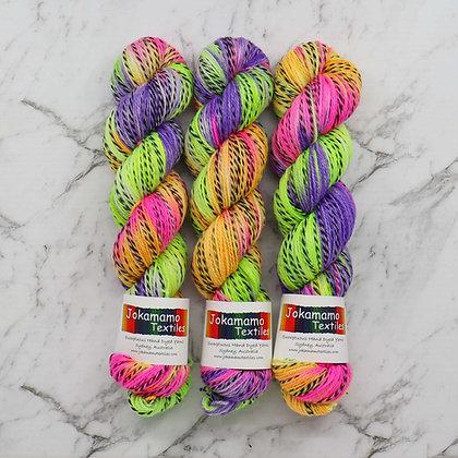 Neon Zebra Merino yarn