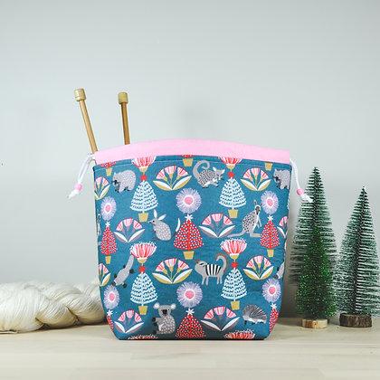 Wattle Christmas Knitting Bag