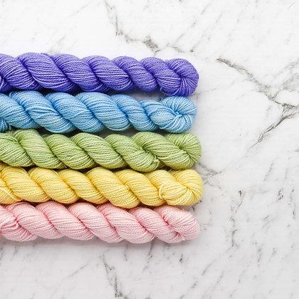 Set Of 5 Pastel Mini Skeins