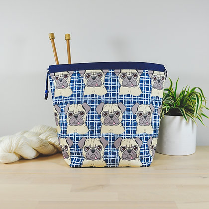 Pugs Knitting Bag