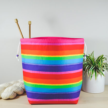 Rainbow Knitting Project Bag
