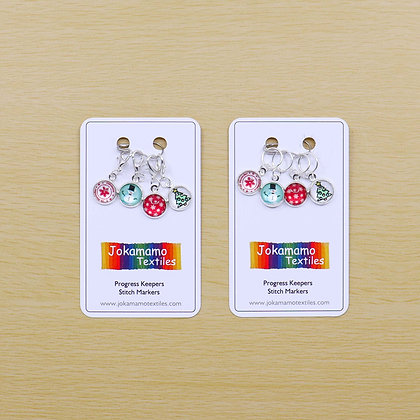 Christmas Stitch Markers or Progress Keepers