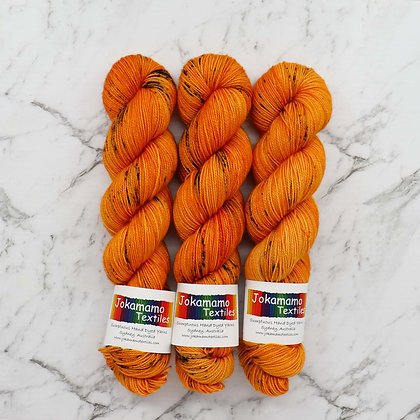 Spicy Saffron BFL High Twist Yarn