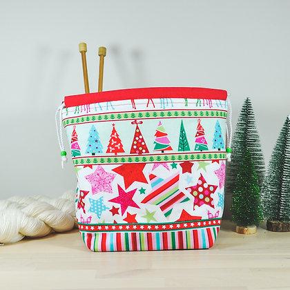 Christmas Stars Knitting Bag