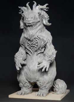 Clay Sculpture: Rufus
