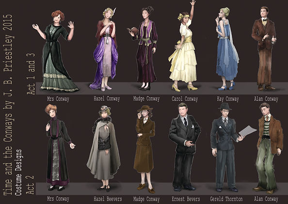 Time and the Conways Costume Designs