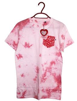 Tie Dye T-Shirt with Leopard print pocket