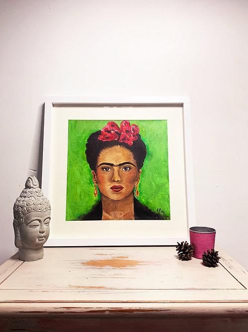 Frida Kahlo | Original Canvas Painting  | Framed