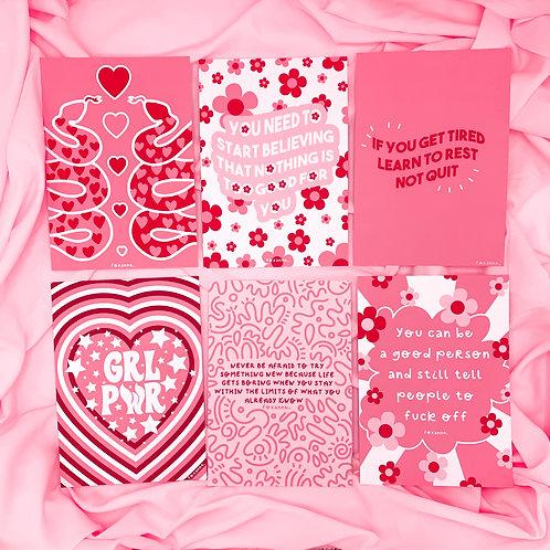 Foxanne's Faves | Pack of 6 Art Print s| A5/A4/A3 | Sassy Wall Art