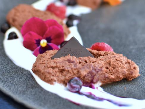 Kichererbsenwasser-Schokoladenmousse