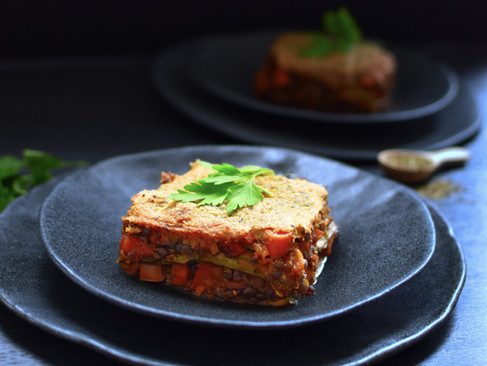 (Vegane) Zucchini Lasagne