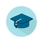 Mortar board cap icon