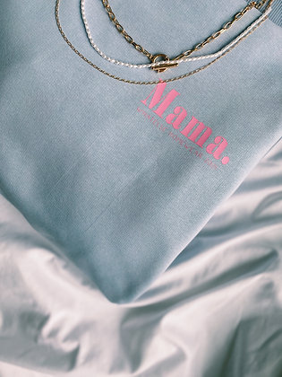 Mama Sweater blue - homewear