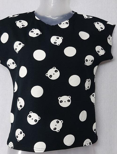 Black Panda Design Womens Tshirt