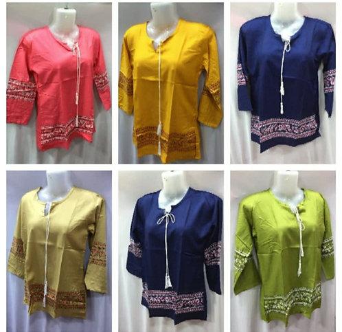 Multi Colored Rayon Shirt Kurti.
