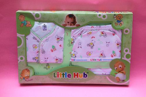 Light Green 4 Pcs baby Set (0-9 Mnths).