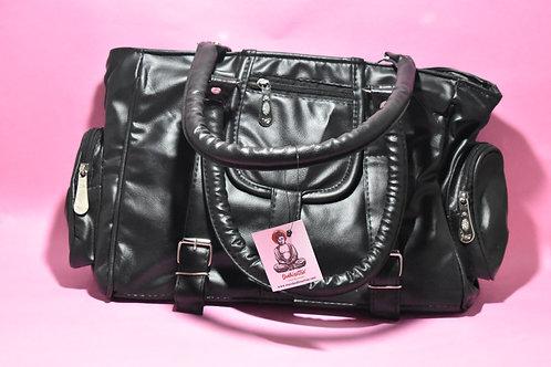 Black PU Leather Handbag.