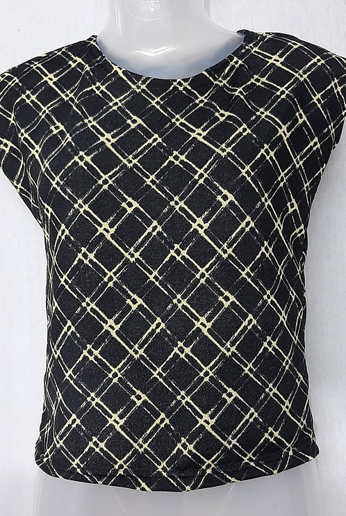 Black Triangle Design Womens Tshirt